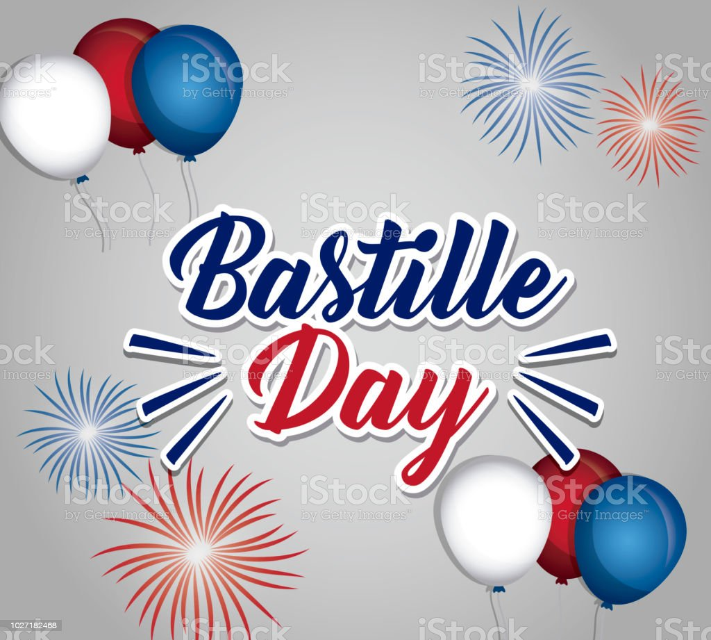 Bastille day design vector art illustration