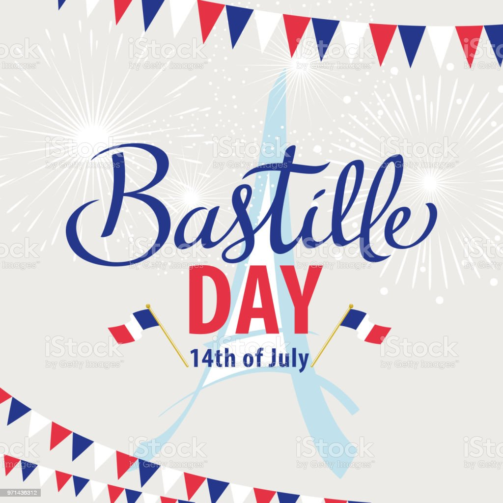 Bastille Day vector art illustration