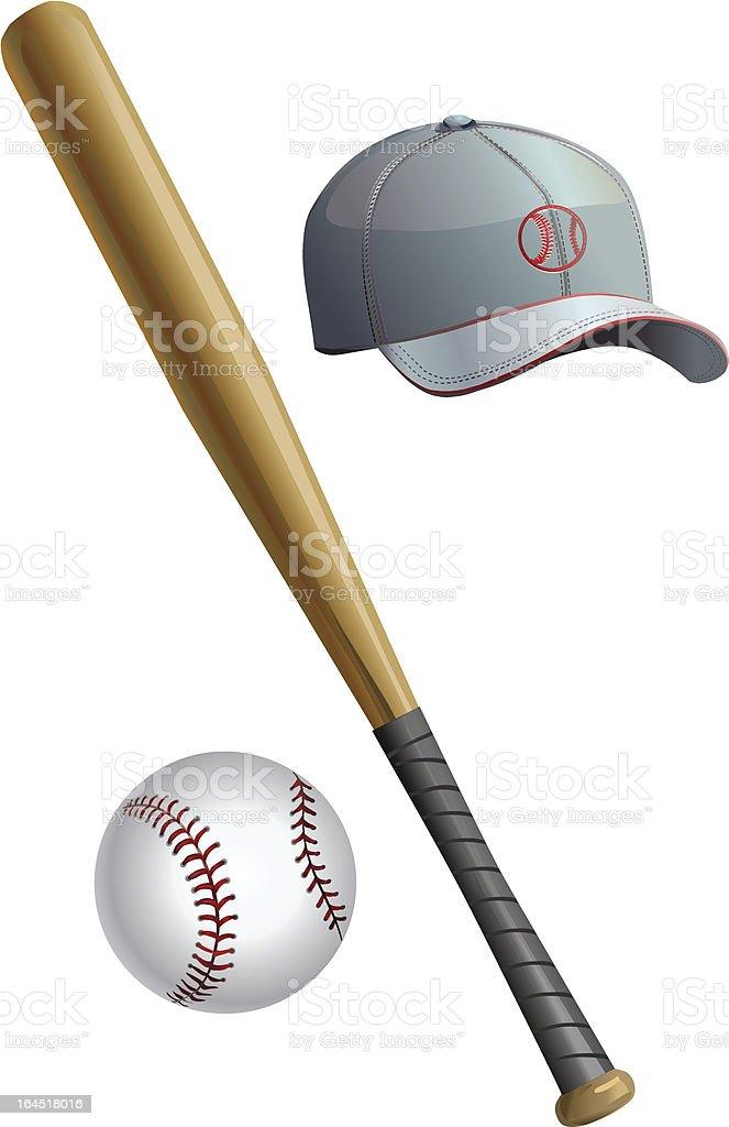 Bat cap ball royalty-free bat cap ball stock vector art & more images of activity