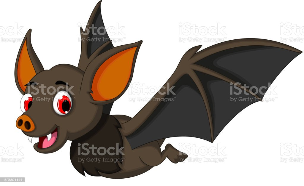Ilustración De Murciélago Dibujos Animados De Vuelo Y Más Vectores