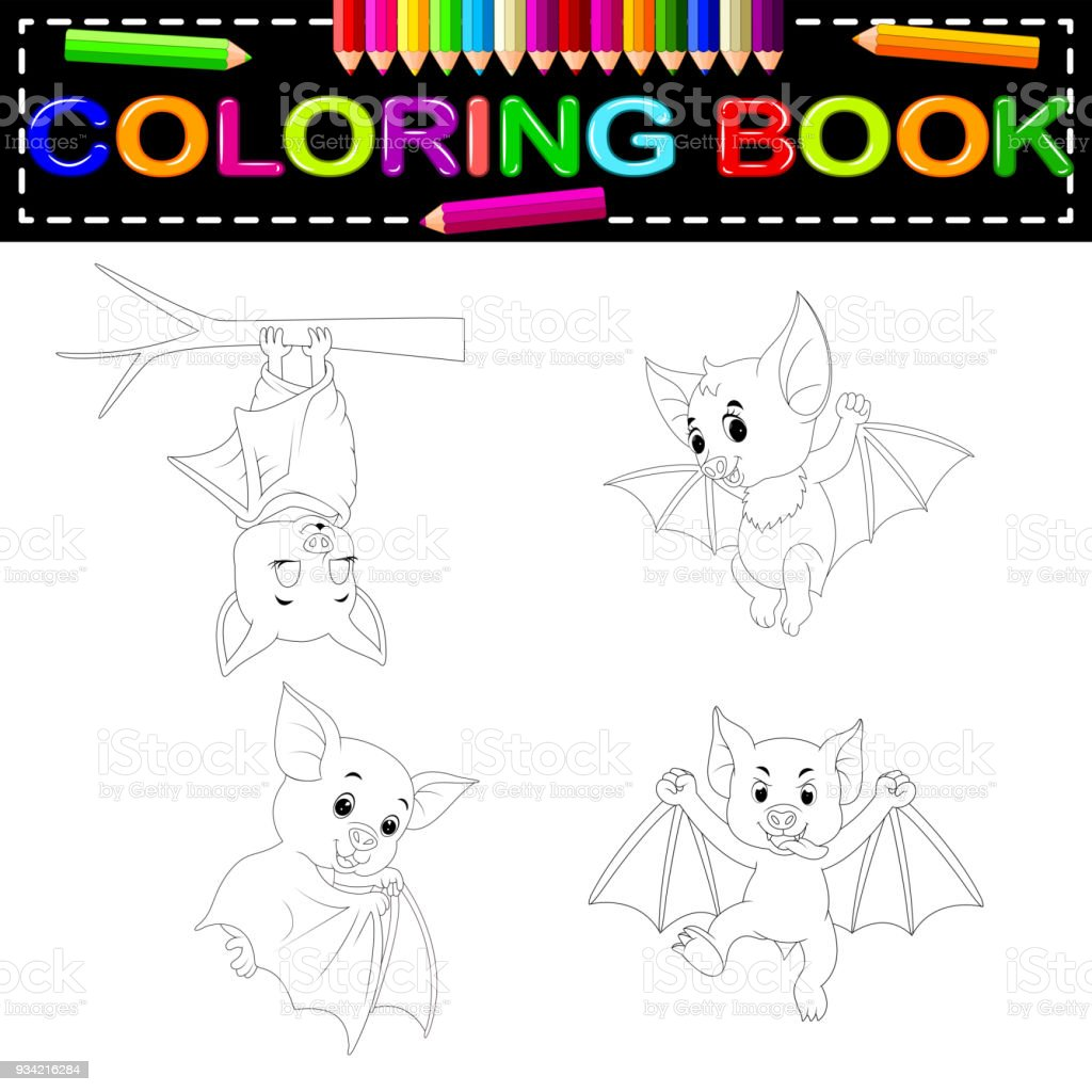 Bonito Bat Para Colorear Imprimible Adorno - Dibujos de Animales ...