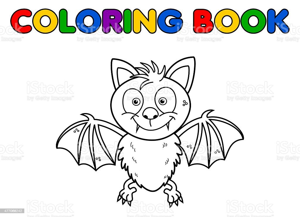 Ilustración de Bat Para Colorear y más banco de imágenes de 2015 ...