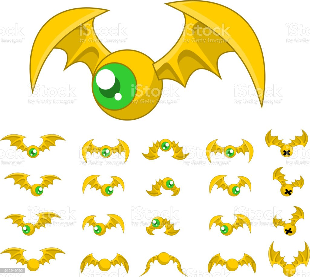 Bat Game Sprites Stock Vector Art More Images Of Activity