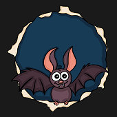 Scalable vectorial image representing a bat halloween background.