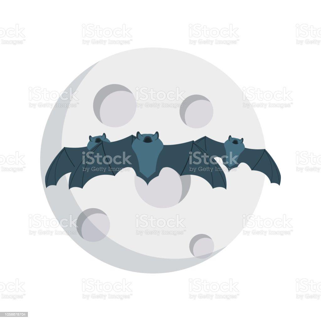 bat  Halloween   spooky vector art illustration