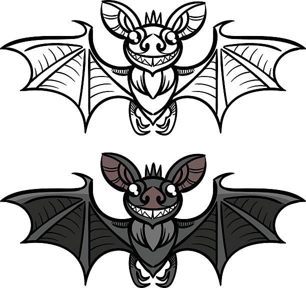 bat halloween vektor - megabat stock-grafiken, -clipart, -cartoons und -symbole