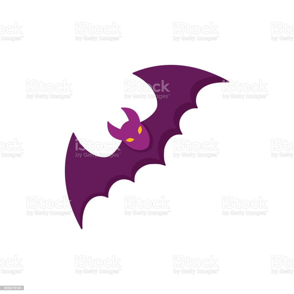 Bat icon for web. Isolated on white background. vector art illustration