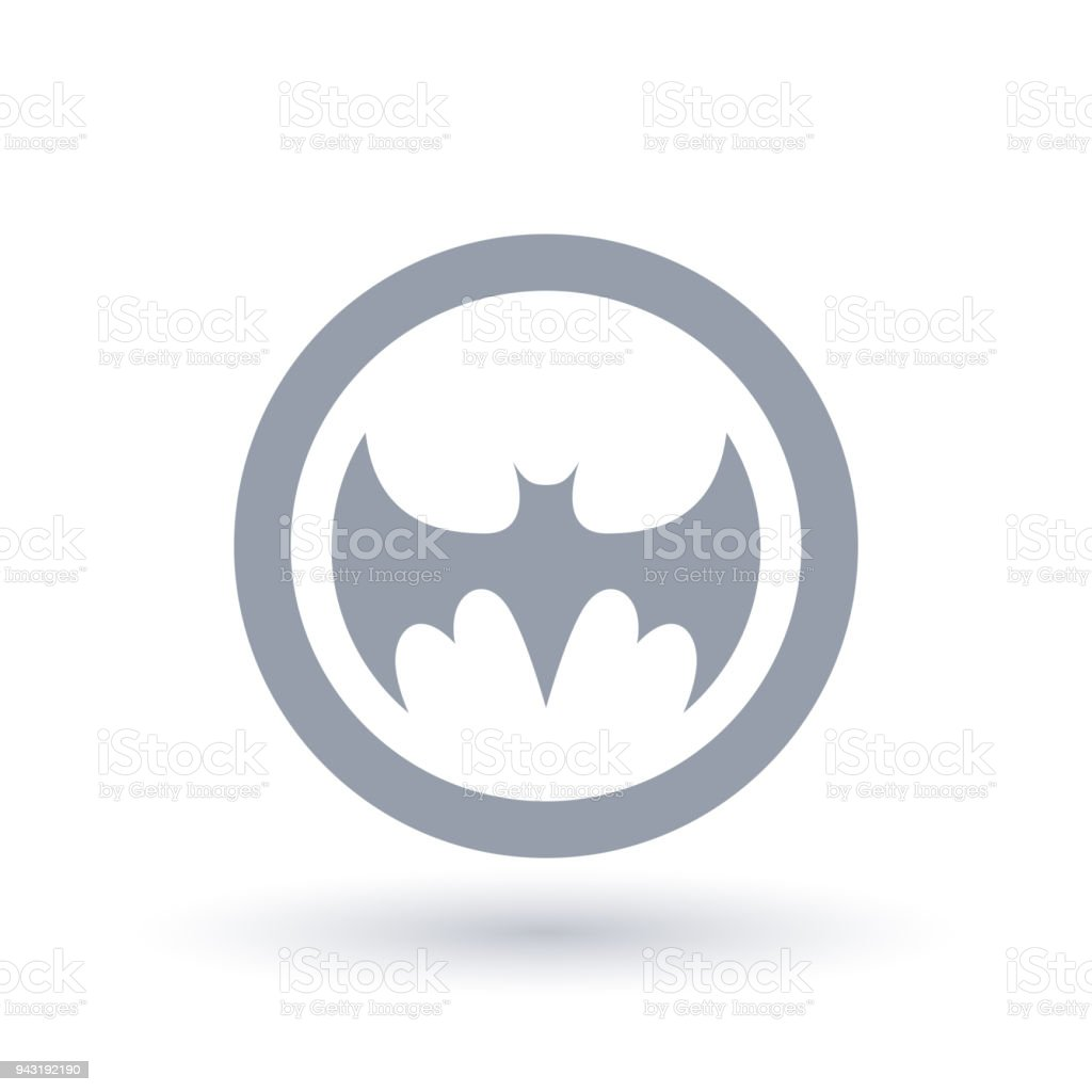 bat icon silhouette halloween animal symbol stock vector art & more