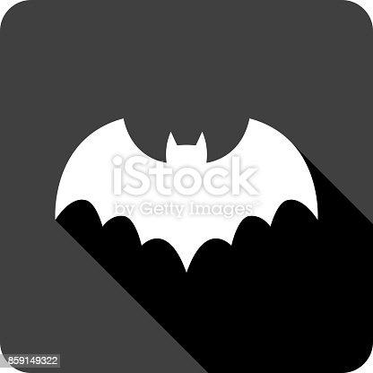 istock Bat Icon Silhouette 859149322