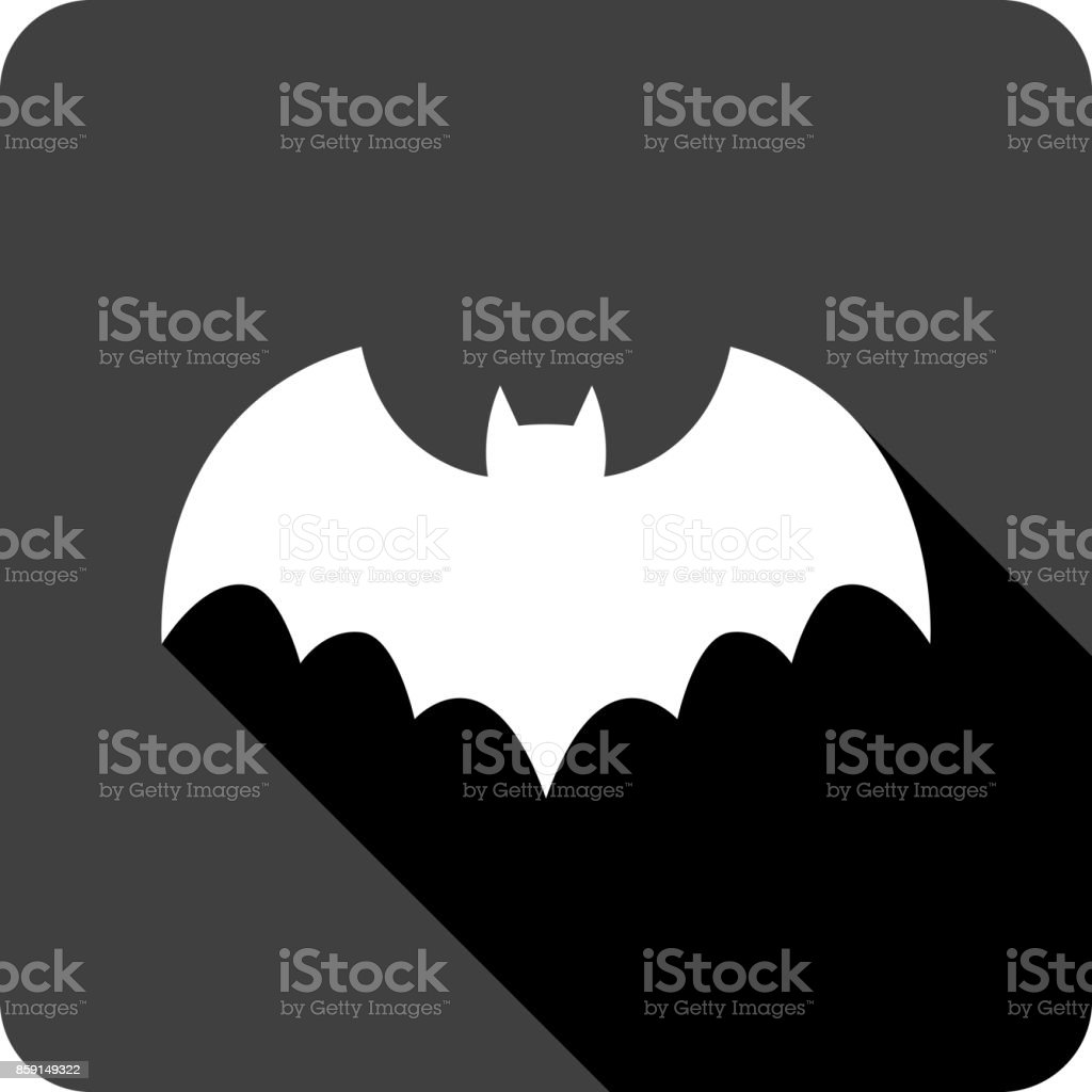 Bat Icon Silhouette vector art illustration