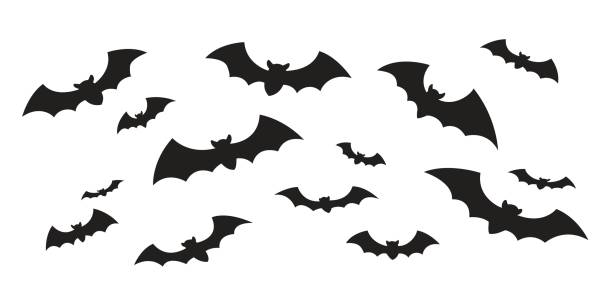 bat icon vector doodle illustration - bat stock illustrations