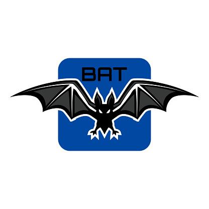 bat insignia isolated on white background. vector illustration