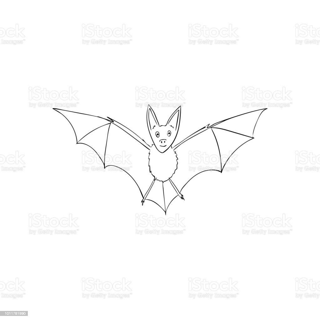 Bat Is A Nocturnal Animal A Symbol Of Halloween The Bat In Flight