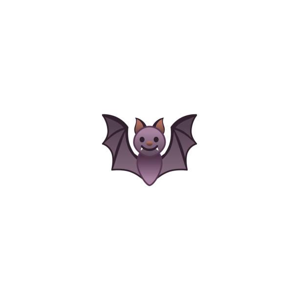 fledermaus isoliert realistische vektor-symbol. fledermaus-illustration emoji, emoticon, aufkleber-symbol - megabat stock-grafiken, -clipart, -cartoons und -symbole