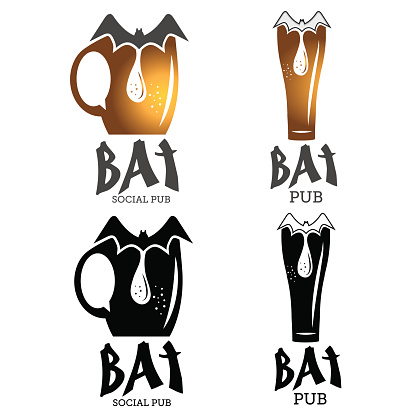 bat pub illustration