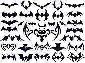 Bat Shapes Set for Halloween
