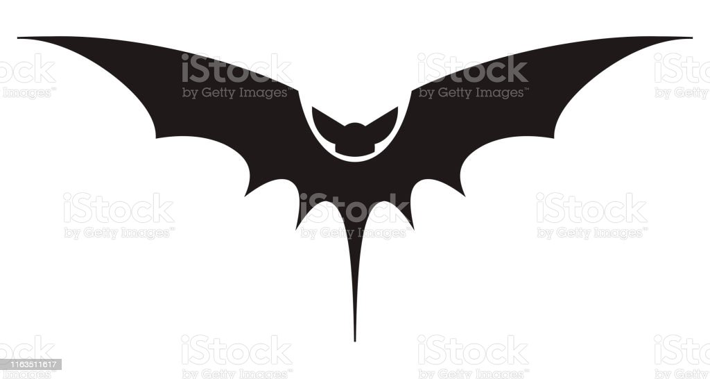photograph relating to Printable Halloween Silhouettes named Bat Silhouette Printable Template Bat Icon Isolated Upon White
