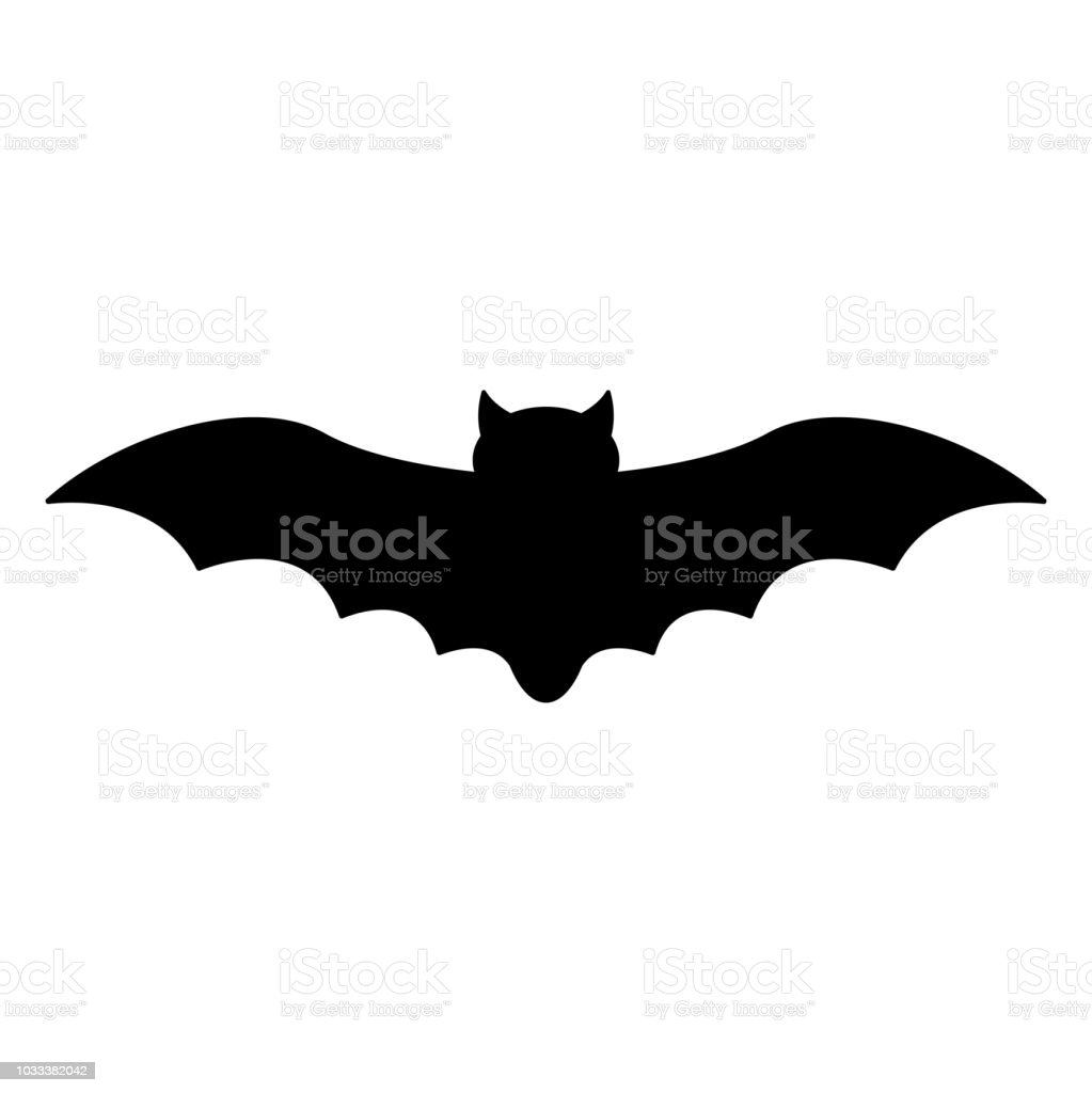 Bat Silhouette vector art illustration