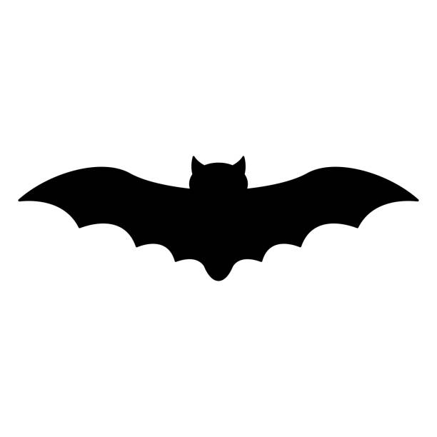 bat silhouette - bat stock illustrations, clip art, cartoons, & icons