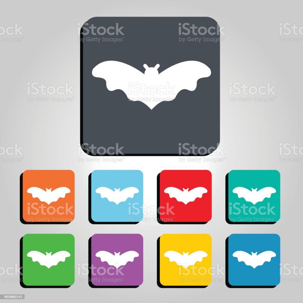 Bat Vector Icon Illustration vector art illustration