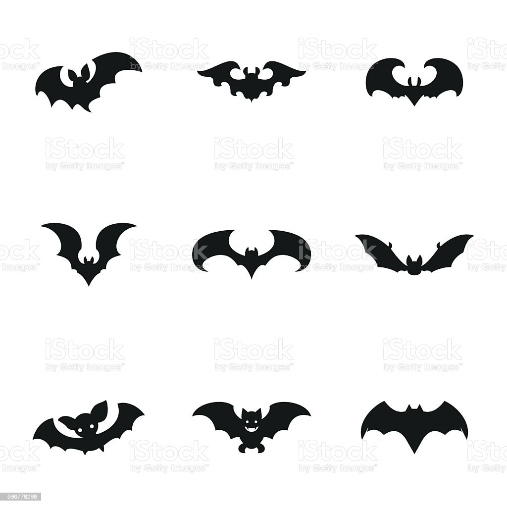 Bat vector icons vector art illustration