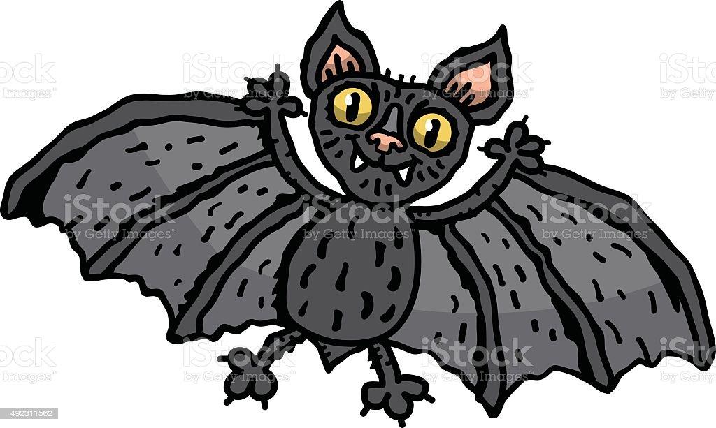 Bat vector art illustration