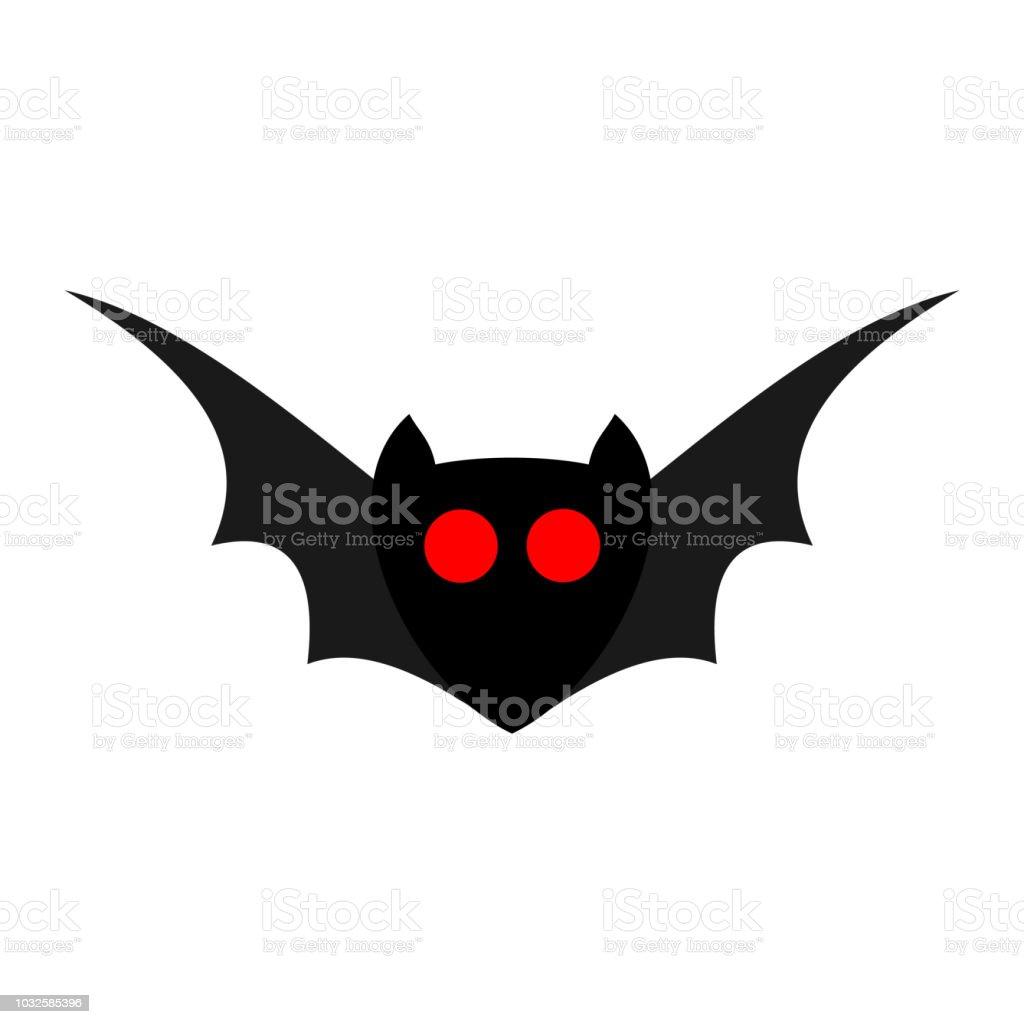 Vetores De Morcego Com Olhos Vermelhos Isolados Em Um Fundo Branco