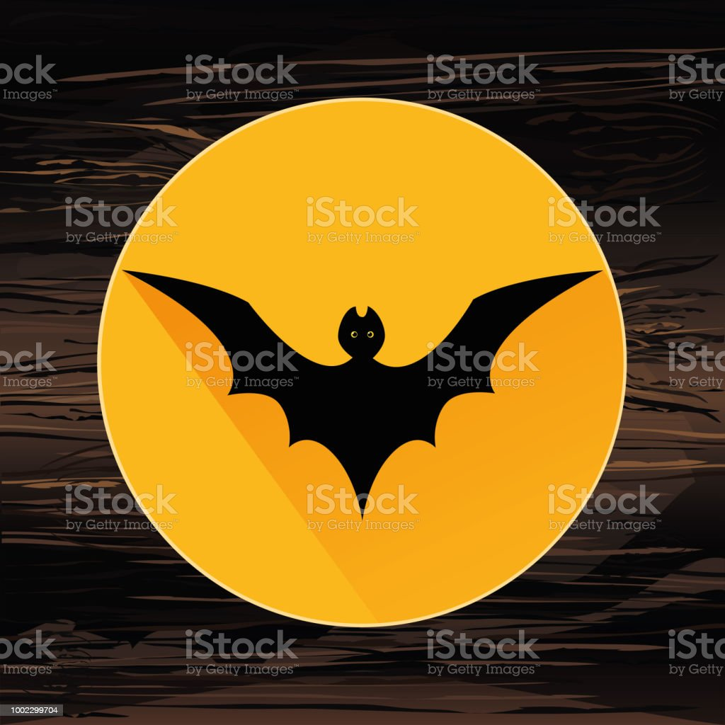 Bat4halloween The Black Silhouette Of The Bat Is Flying Vector