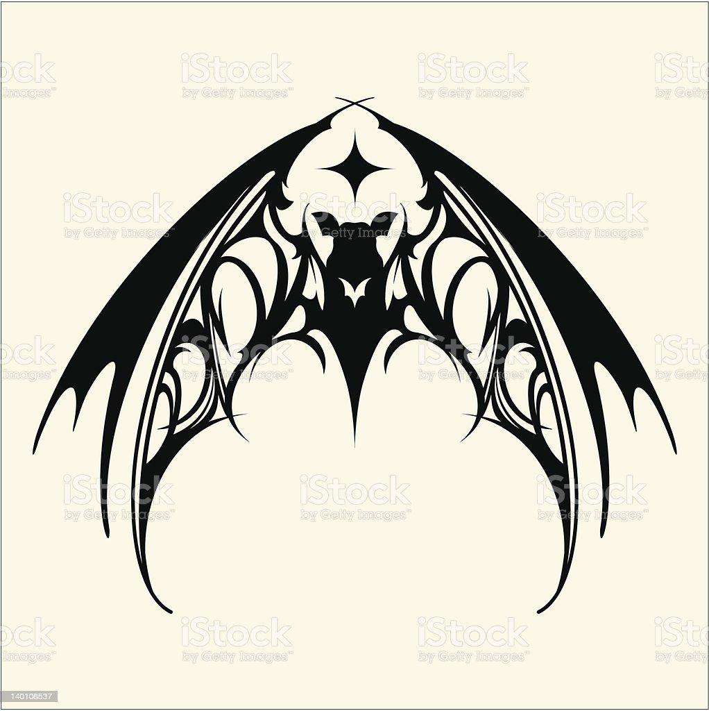 Bat_tatto royalty-free stock vector art