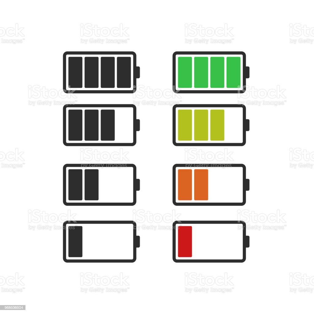 Batery icon, vector flat design vector art illustration