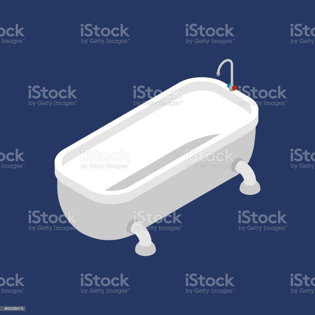 Bath Isometric Isolated Bathroom Accessory Vector Illustration Stock ...