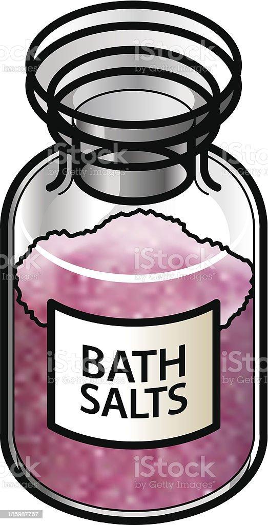 Bath salts royalty-free stock vector art