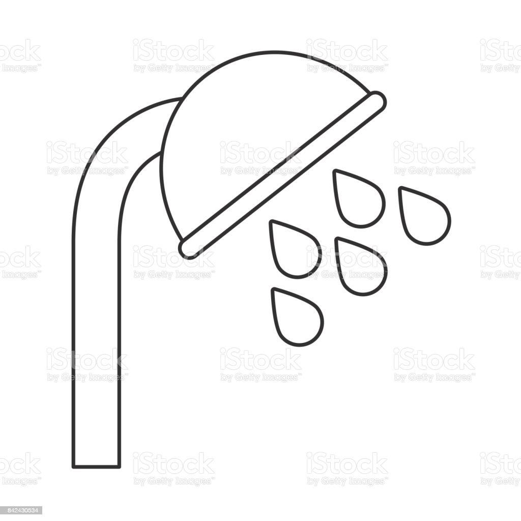 Ilustracion De Icono De Regadera De Bano Y Mas Vectores Libres De