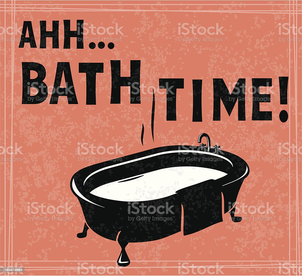 Bath Time vector art illustration