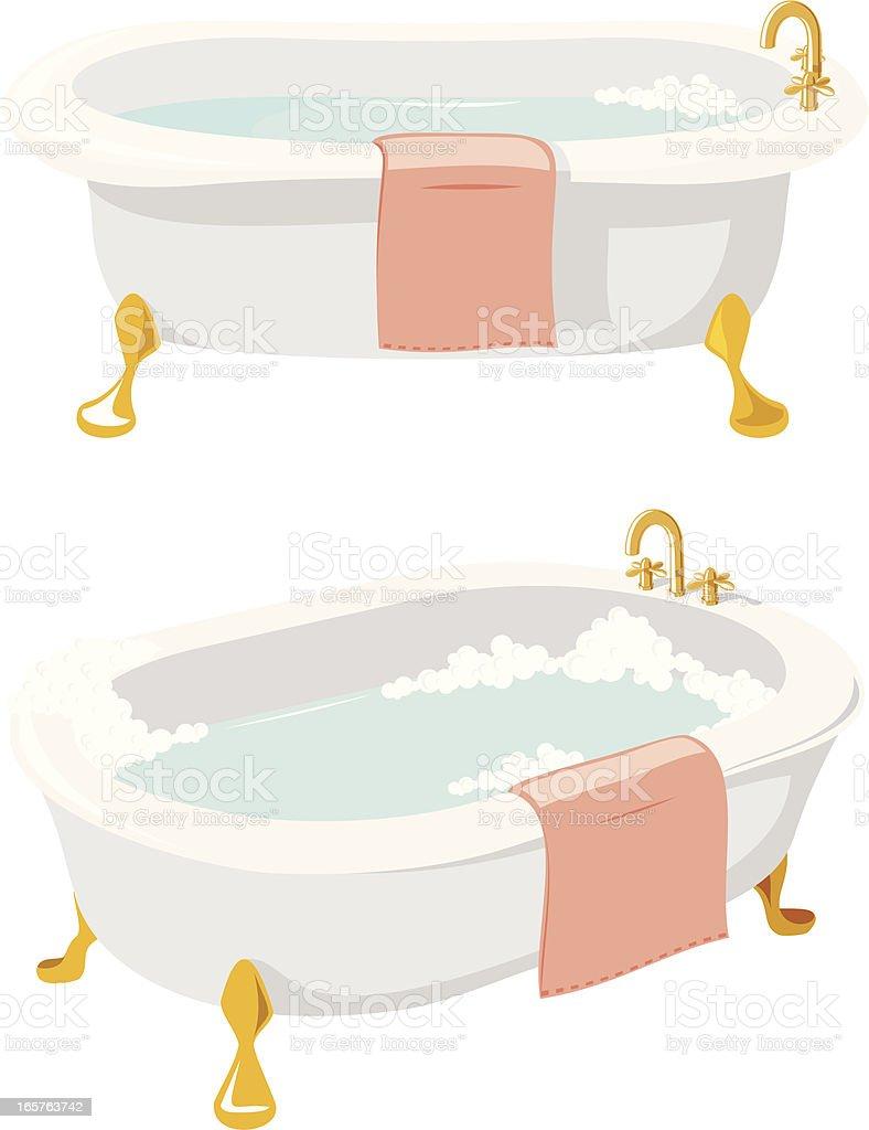 Bath vector art illustration