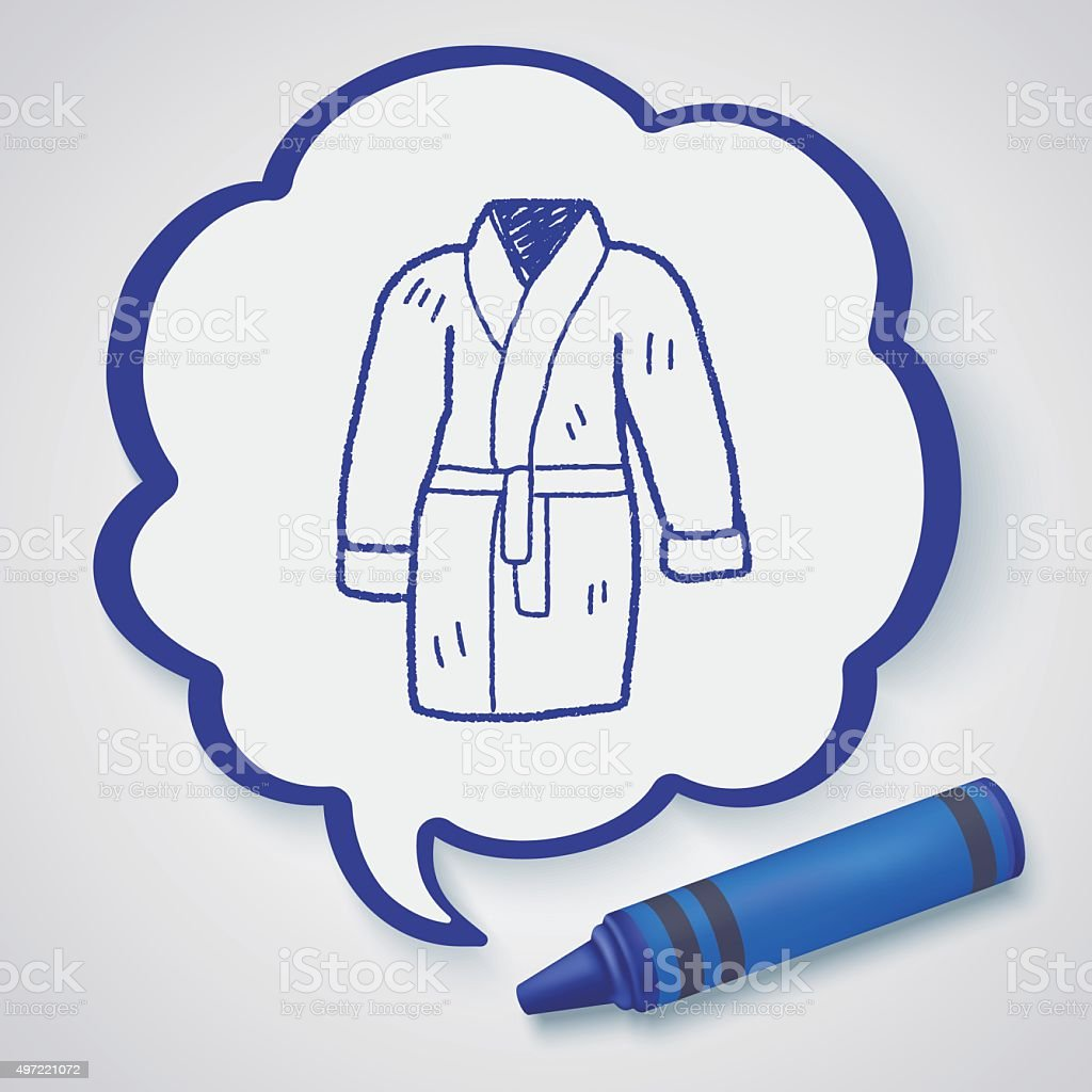 bathrobe doodle vector art illustration