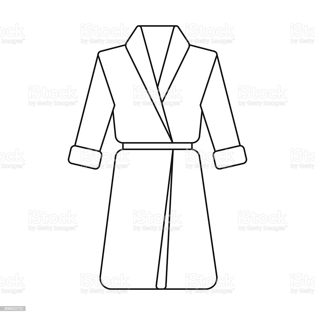 Bathrobe icon of vector illustration for web and mobile - ilustración de arte vectorial