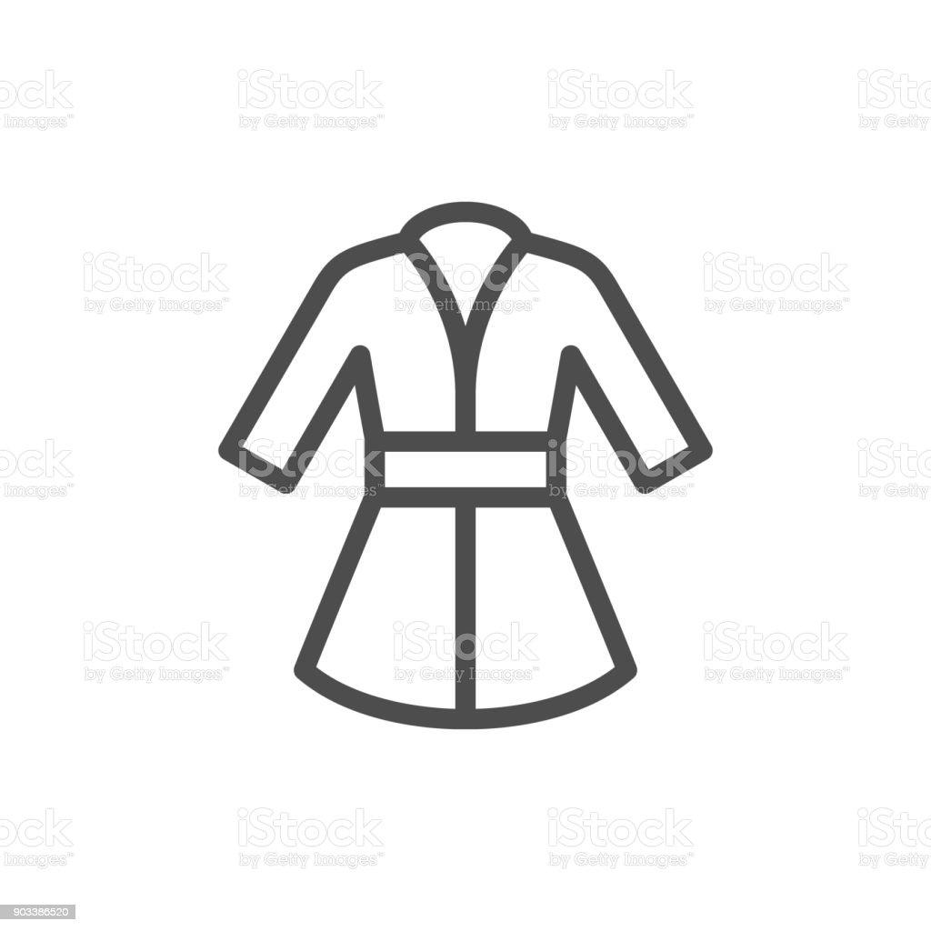f329f813cb Bathrobe line icon royalty-free bathrobe line icon stock vector art  amp   more images