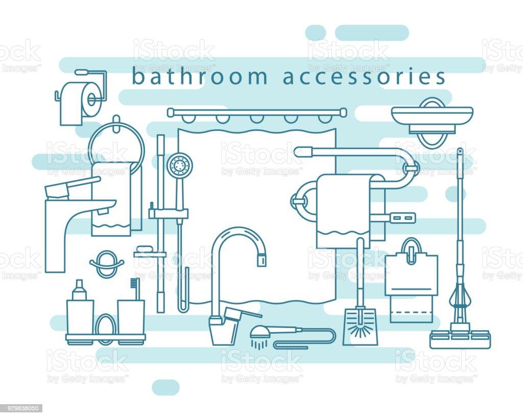 Bathroom Accessories Shower Stand Bathroom Curtain Towel Holder ...