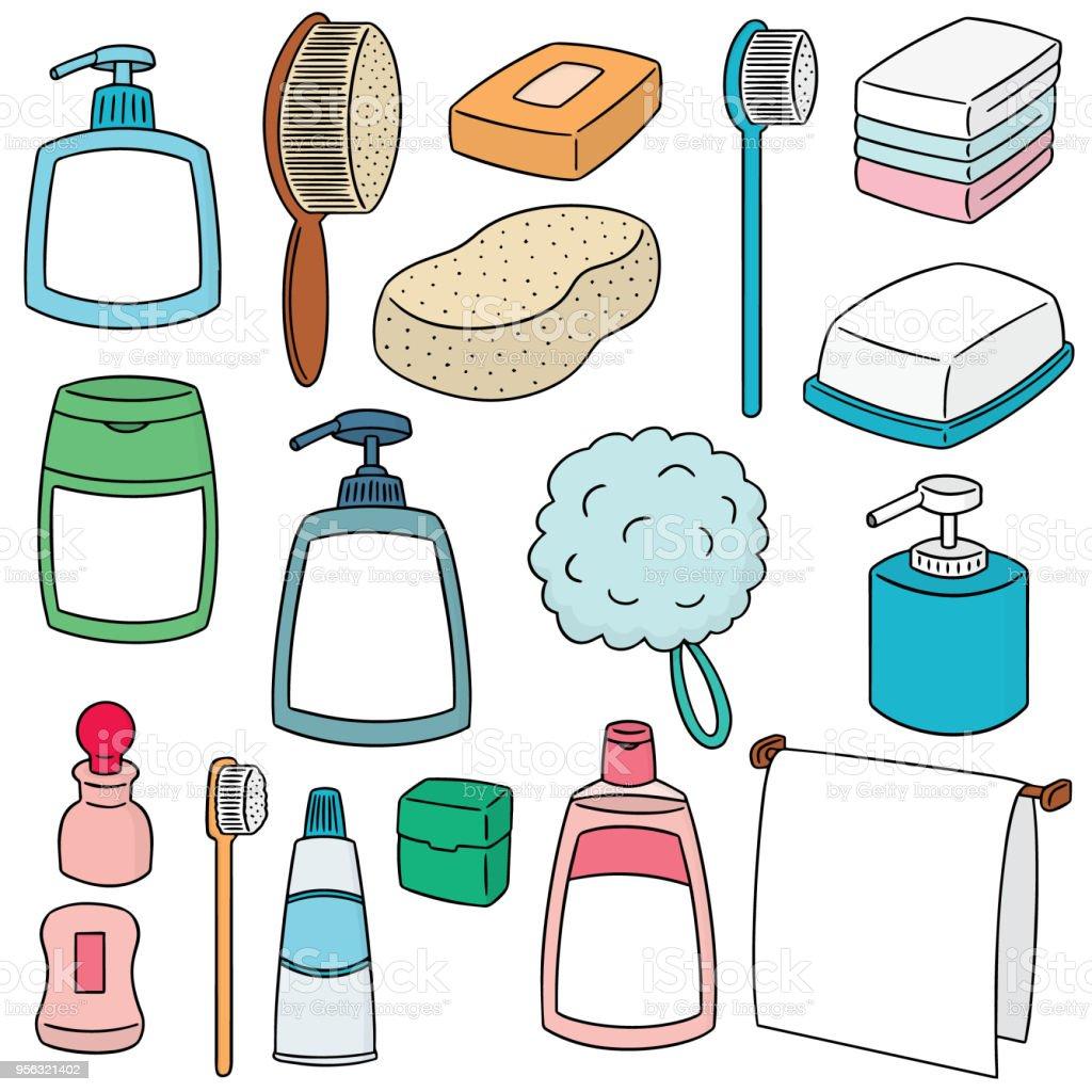 Bathroom Accessories Stock Vector Art & More Images of Art 956321402 ...