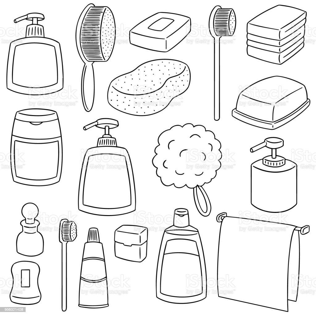 Bathroom Accessories Stock Vector Art & More Images of Art 956321408 ...