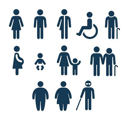 욕실 및 의료 인력 아이콘 개념에 대한 스톡 벡터 아트 및 기타 이미지