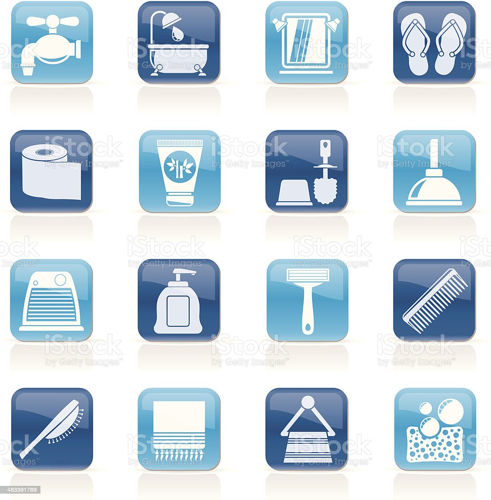 Bathroom and Personal Care icons royalty-free stock vector art