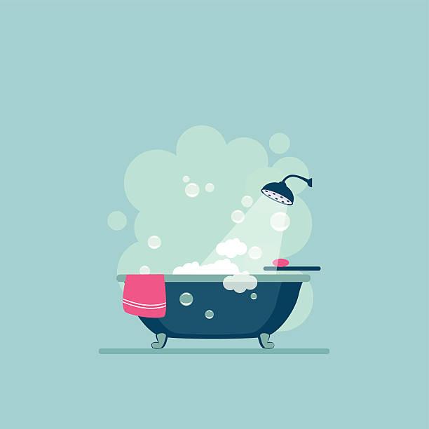 badezimmer cover moderne trendmäßiges design. tm - badezimmer stock-grafiken, -clipart, -cartoons und -symbole