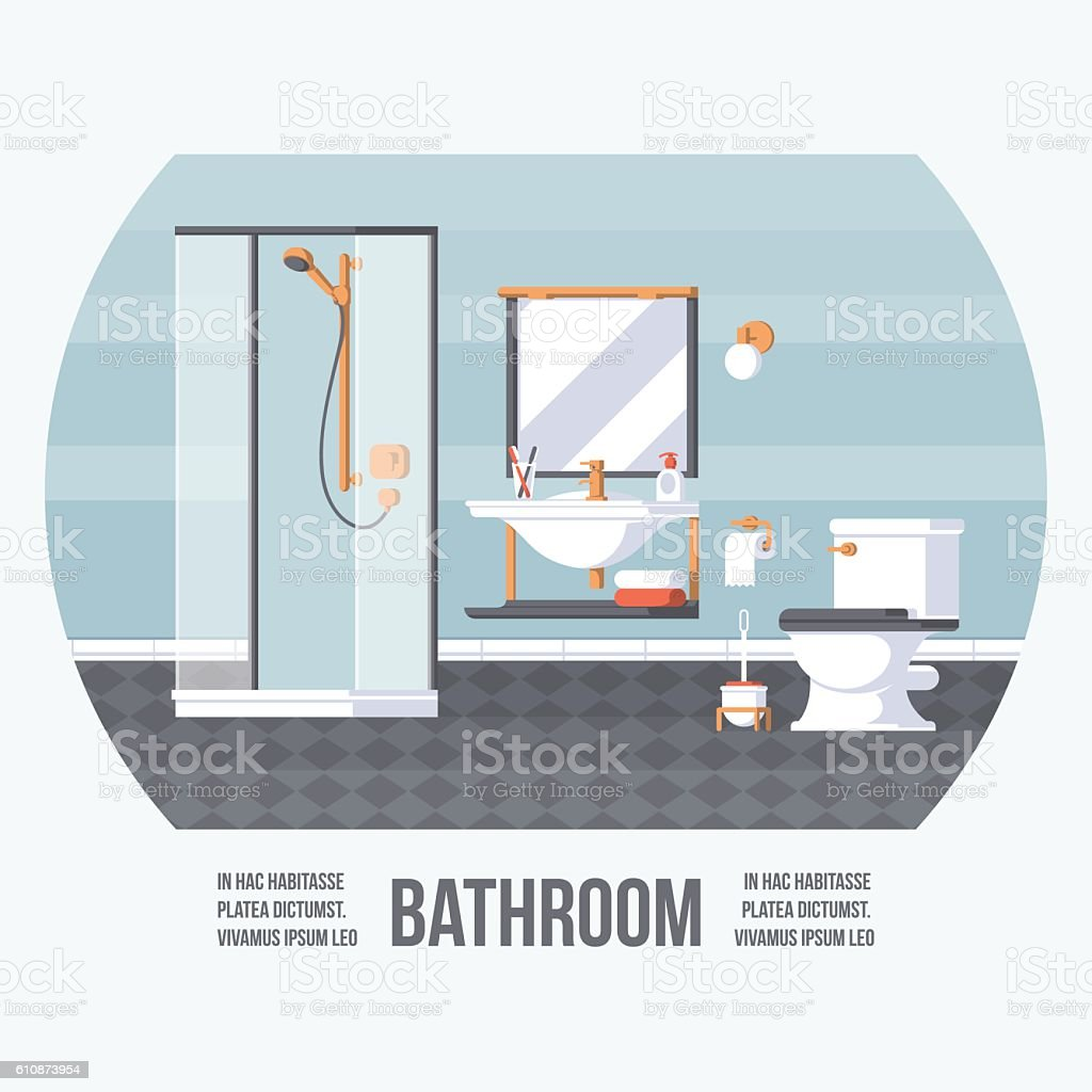 Badezimmer-Cover – Vektorgrafik