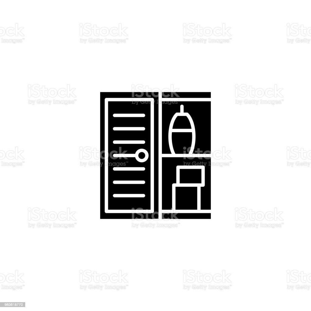 Cool Schwarze Möbel Sammlung Von Bad Möbel Symbol Konzept. Bad Möbel Flache