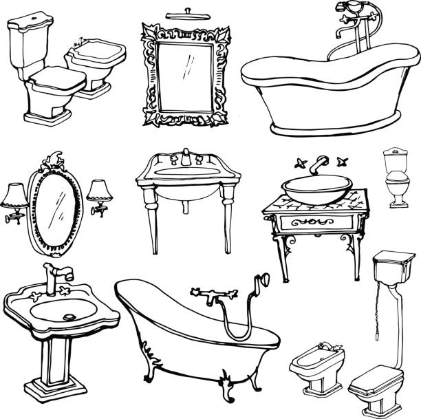 Royalty Free Baroque Mirror Clip Art, Vector Images & Illustrations