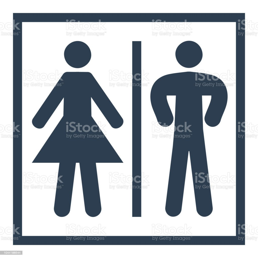 Bathroom Icon On White Background Stock Illustration Download