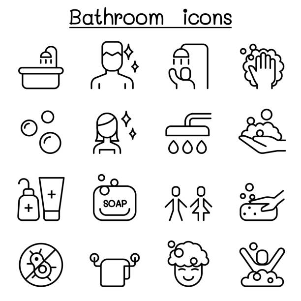 Best Taking A Bath Illustrations, Royalty-Free Vector