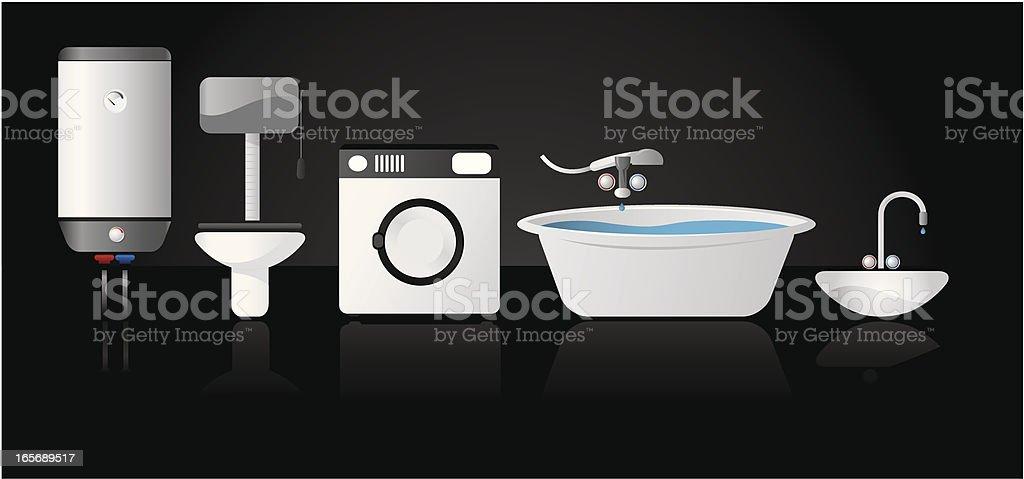 Bathroom icon set royalty-free stock vector art